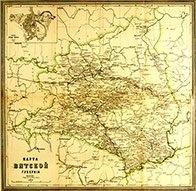 Карта Вятской губернии